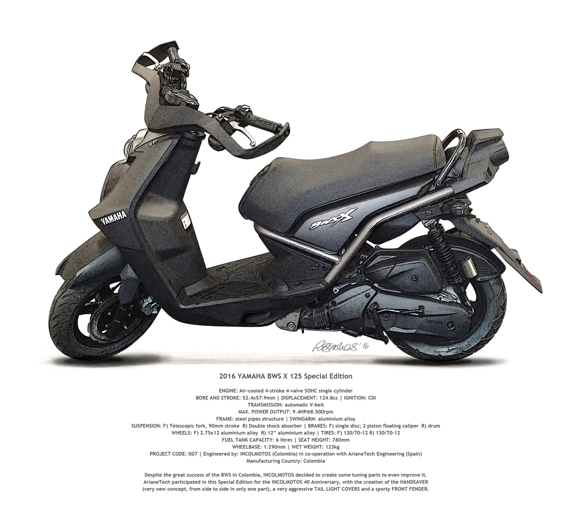 2016. YAMAHA BWS X 125 Special Edition (0D7)-PRE