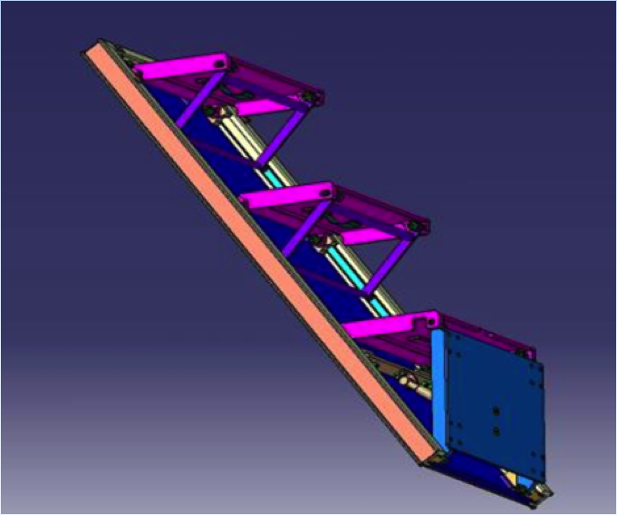 Folding stairs arianetech ingenieria for Folding stairs